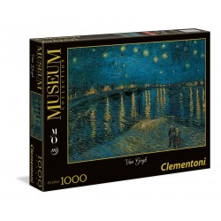 Clementoni - 1000 pcs - MUSEUM ORSAY VAN GOGH Notte Stellata sul Rodano  Museum Collection