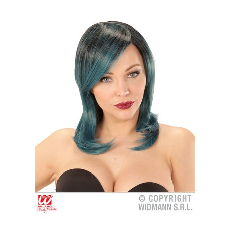 "Widmann ""Parrucca DREAM HAIR MEGAN nero blu verde"""