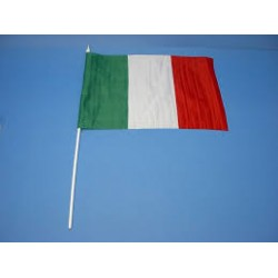 BANDIERA ITALIA con asta