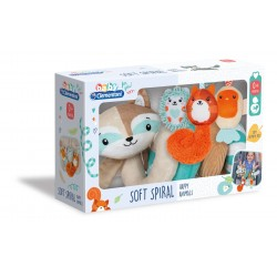 Baby Clementoni for you - Soft Spiral Happy Animals