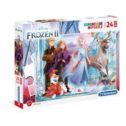 """Clementoni """"  Supercolor Puzzle - Disney Frozen 2 - 24 pezzi """""""