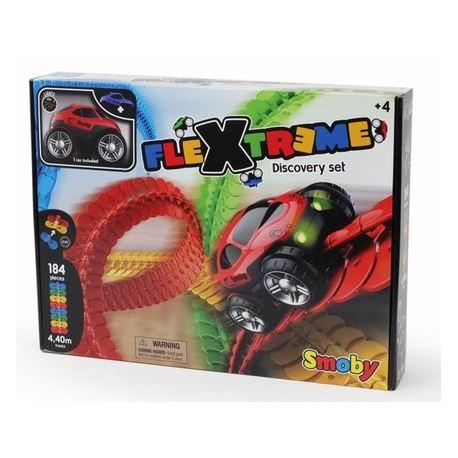 "Smoby "" FleXtreme Discovery Set Pista 184 pz (4,4m) + 1 auto cm. 10 con luci """
