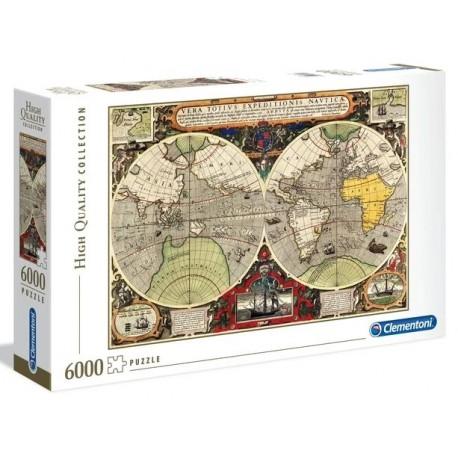 """Clementoni """" Puzzle 6000 pezzi ANTIQUE NAUTICAL MAP """""""